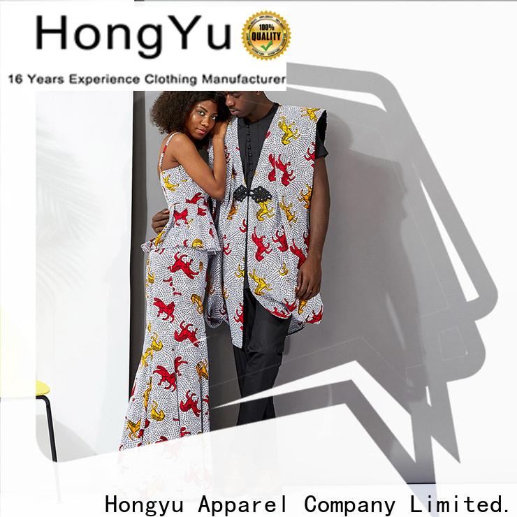 HongYu Apparel casual matching couple shirts design men