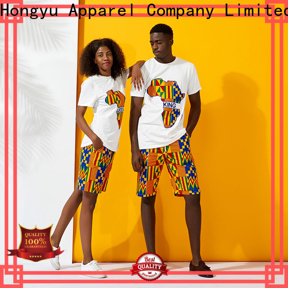 HongYu Apparel customized couple outfits design ladies