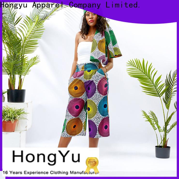 HongYu Apparel women's cotton dress pants design reception
