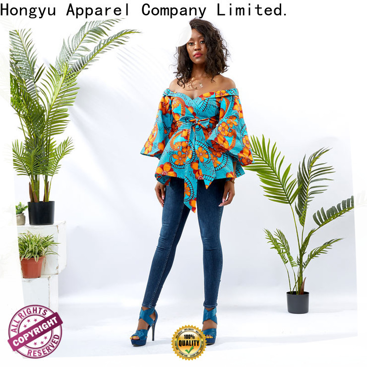 HongYu Apparel fashion summer tops for women ladies africa