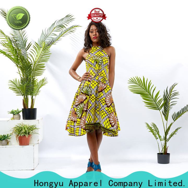 HongYu Apparel wholesale dress shoulder reception