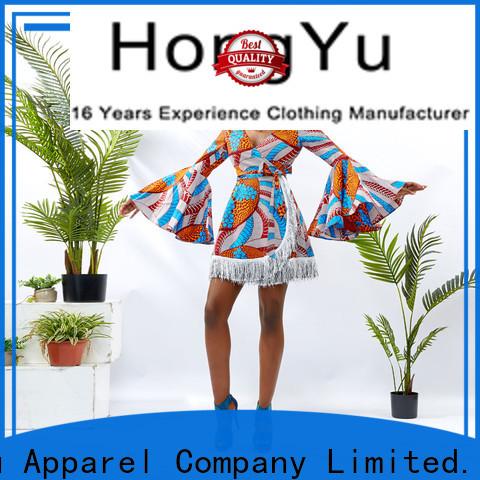 HongYu Apparel modern african print dresses floor mall