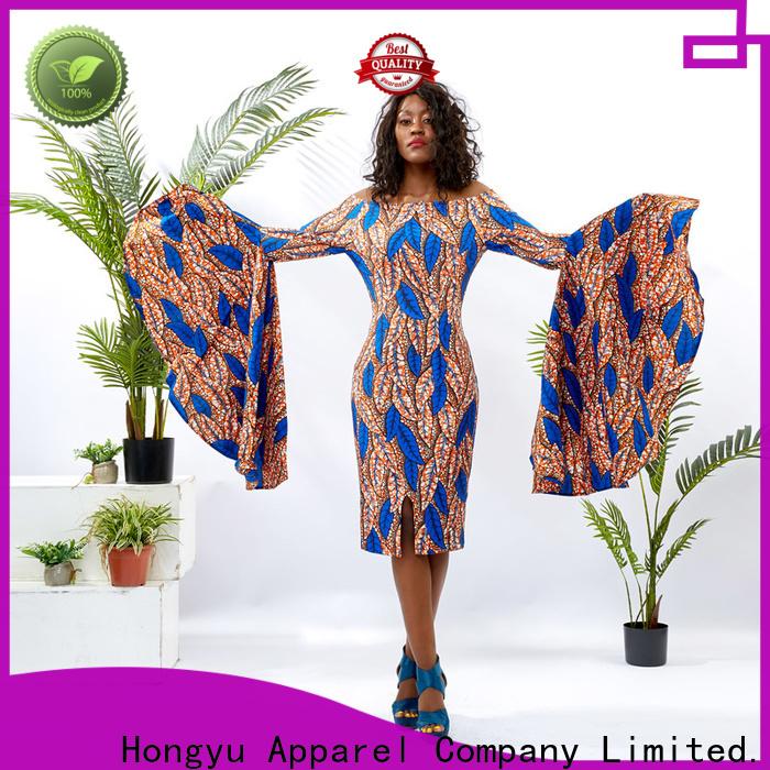 HongYu Apparel womens wrap dress shoulder reception