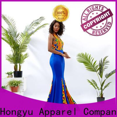 HongYu Apparel midi modest dresses for women floor africa