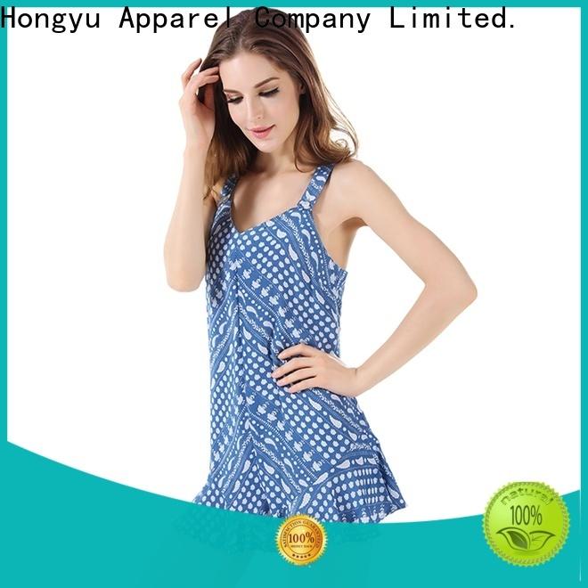 HongYu Apparel rayon one shoulder jumpsuit service travel