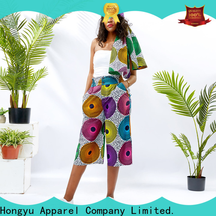 HongYu Apparel women's cotton dress pants design africa
