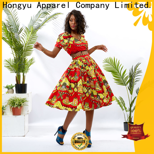 HongYu Apparel 2 piece dress design africa