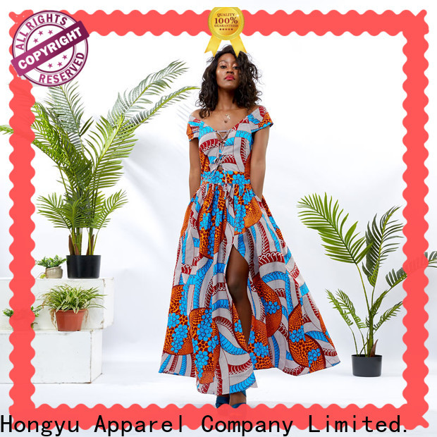 HongYu Apparel trim trendy clothes for women shoulder africa