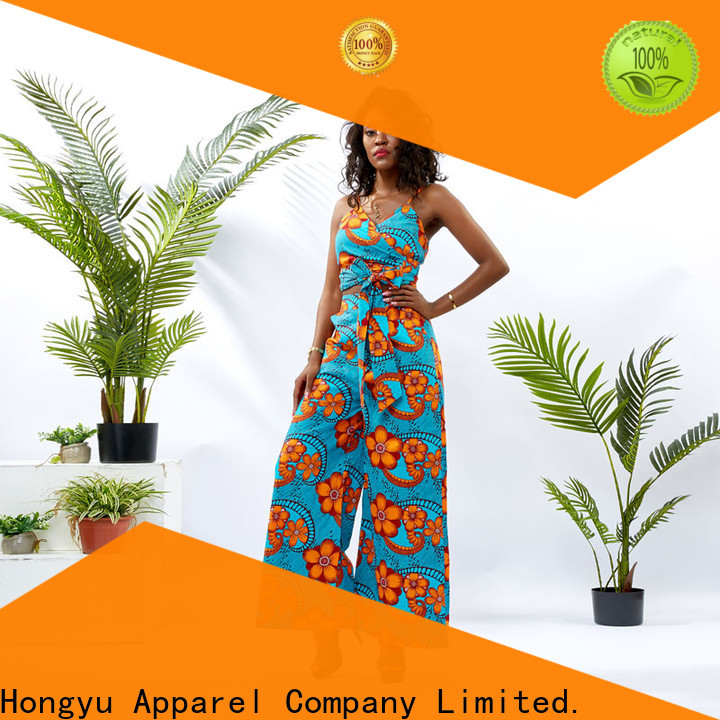 HongYu Apparel top two piece skirt set girls africa