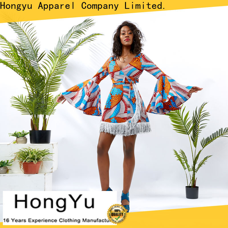 HongYu Apparel printed dress women mall