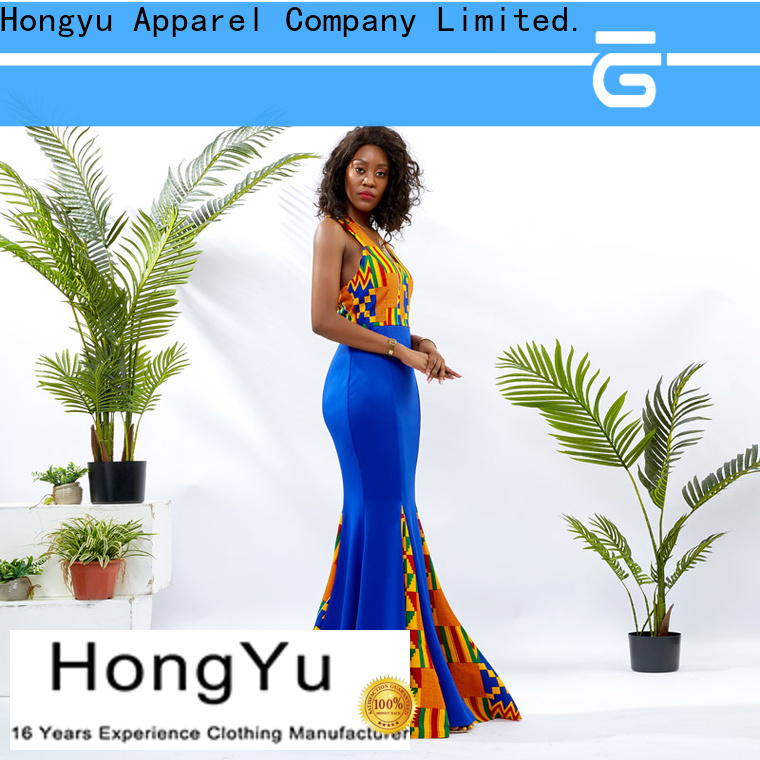 HongYu Apparel wrap fashion dress for womens off reception