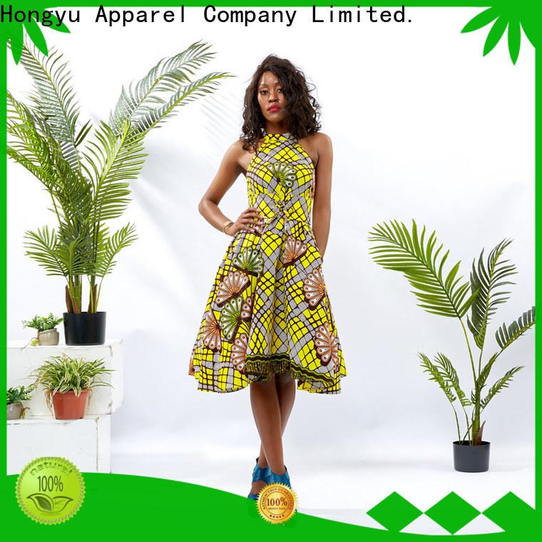 HongYu Apparel summer maxi dresses shoulder reception