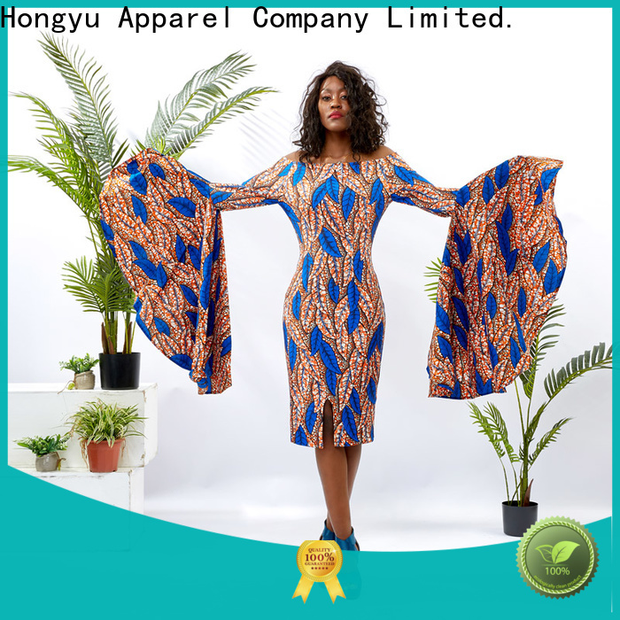 oem african attire dresses shoulder reception