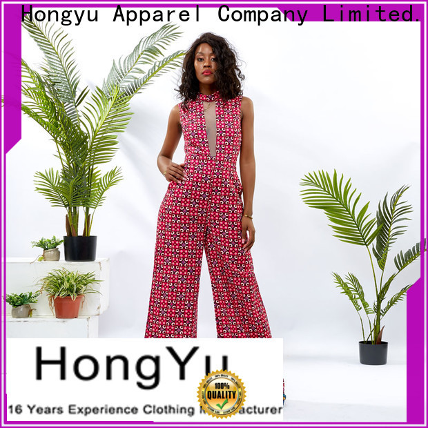 HongYu Apparel digital short sleeve jumpsuit service travel