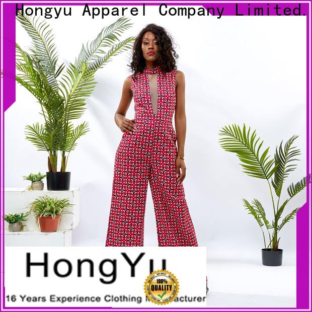 HongYu Apparel digital short sleeve jumpsuit service travel