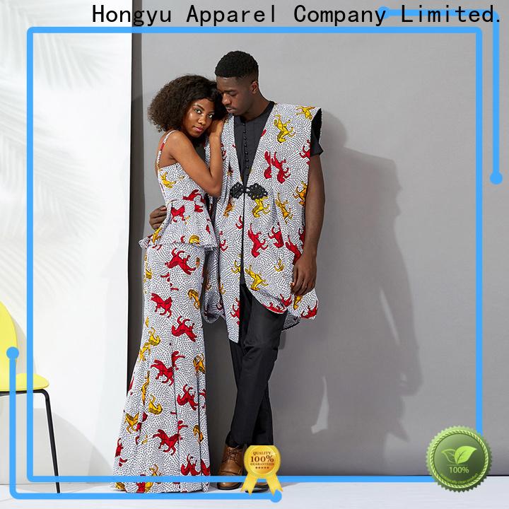 HongYu Apparel quality couple casual wear men