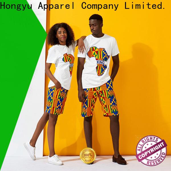 HongYu Apparel matching t shirts for couples men