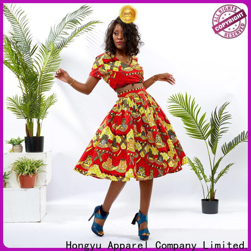 HongYu Apparel two piece short set girls africa