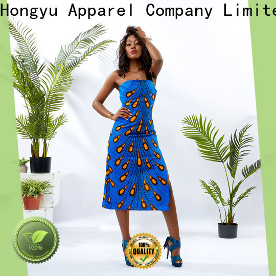 HongYu Apparel wax african print dresses styles floor mall