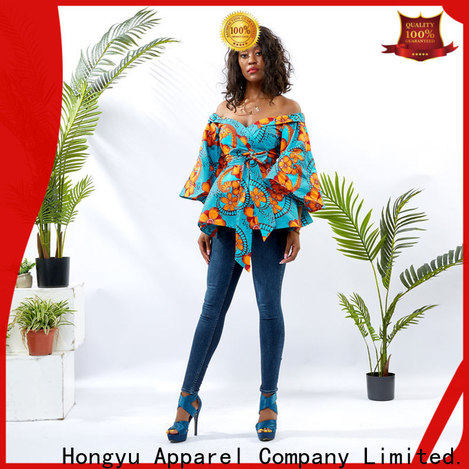 HongYu Apparel ladies tunic tops women africa