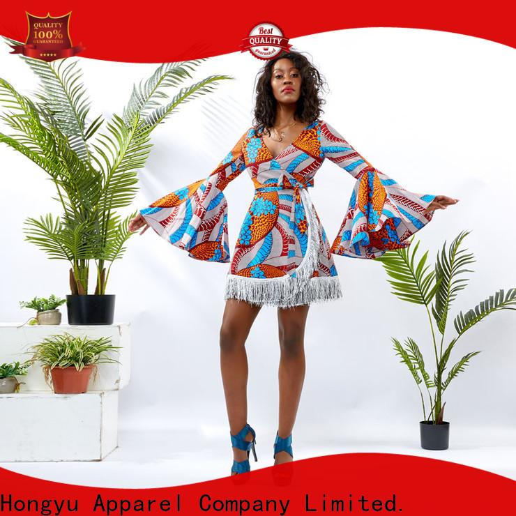 HongYu Apparel sequin best african dress designs women reception