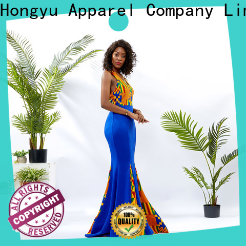 HongYu Apparel trim beautiful dresses for women shoulder reception