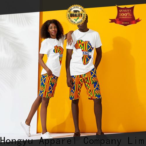 HongYu Apparel couple shirt design wear men