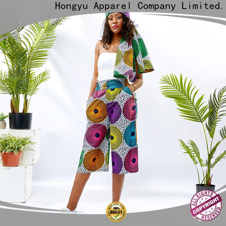 HongYu Apparel midi colored dress pants design reception
