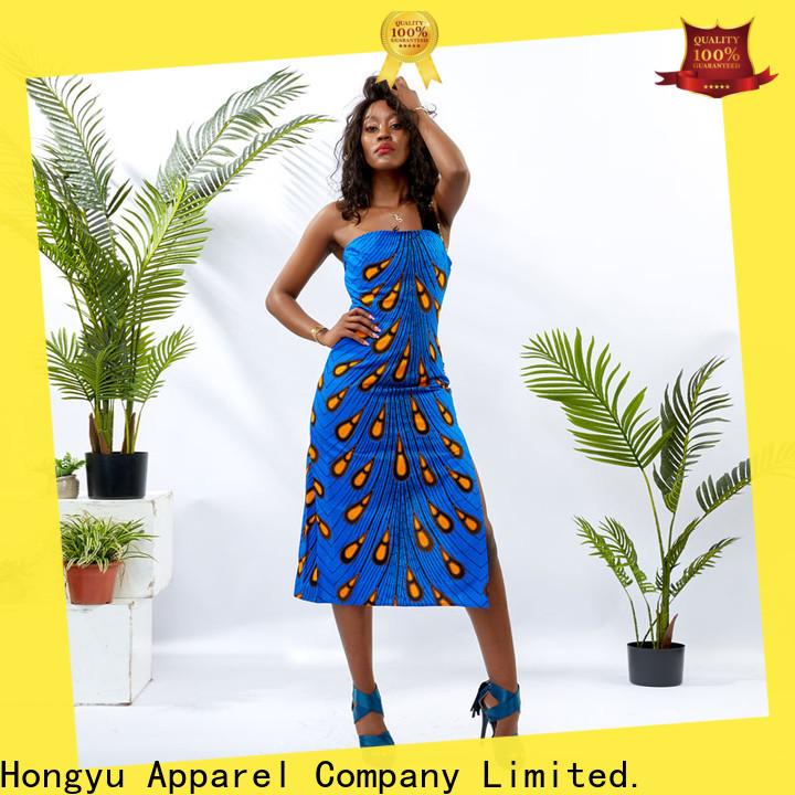 HongYu Apparel long stylish dress for women shoulder mall