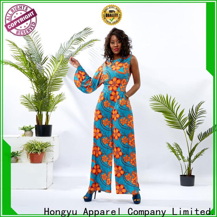 HongYu Apparel oem best jumpsuits design women