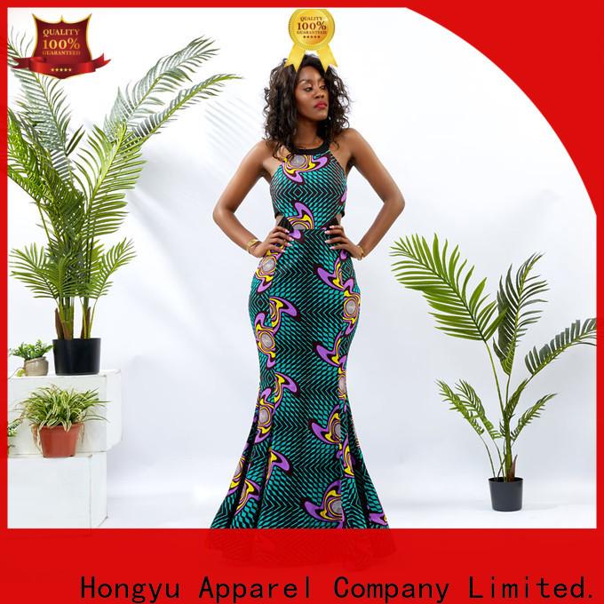 HongYu Apparel wax floral bodycon dress women africa