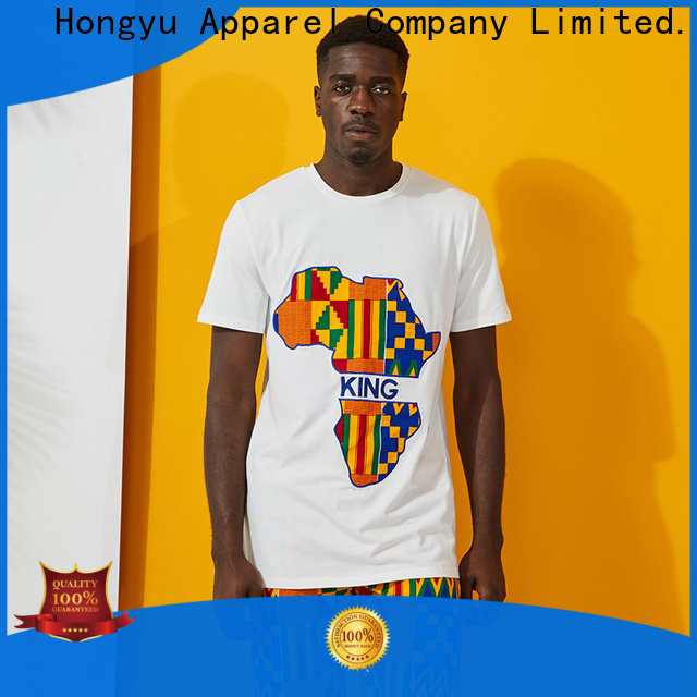 HongYu Apparel yellow custom mens t shirt bottoms work