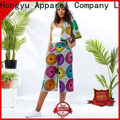 HongYu Apparel cotton midi pants wholesale mall