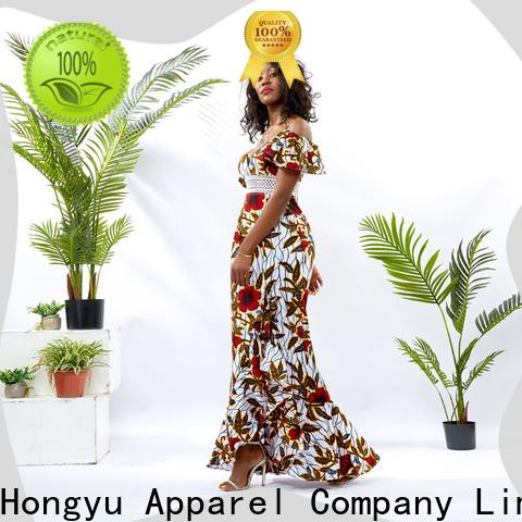 HongYu Apparel off the shoulder summer dress service africa