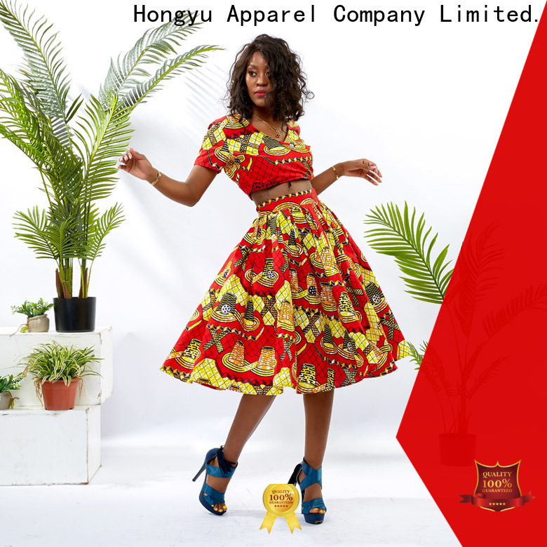 HongYu Apparel two piece dresses girls africa