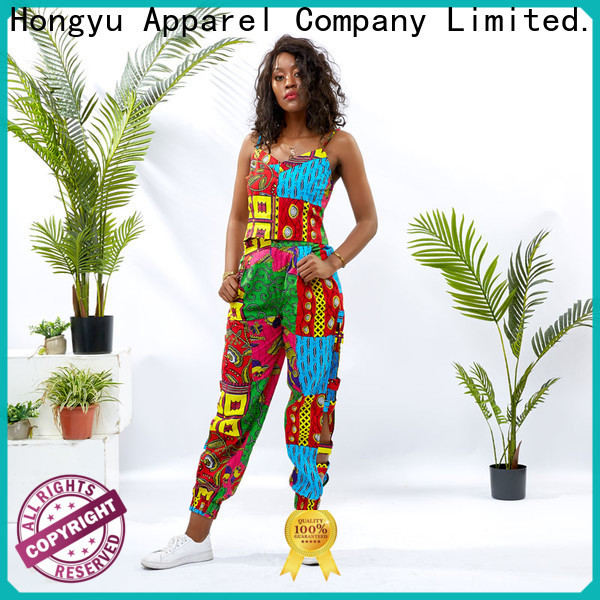 HongYu Apparel crop 2 piece crop top and skirt girls africa
