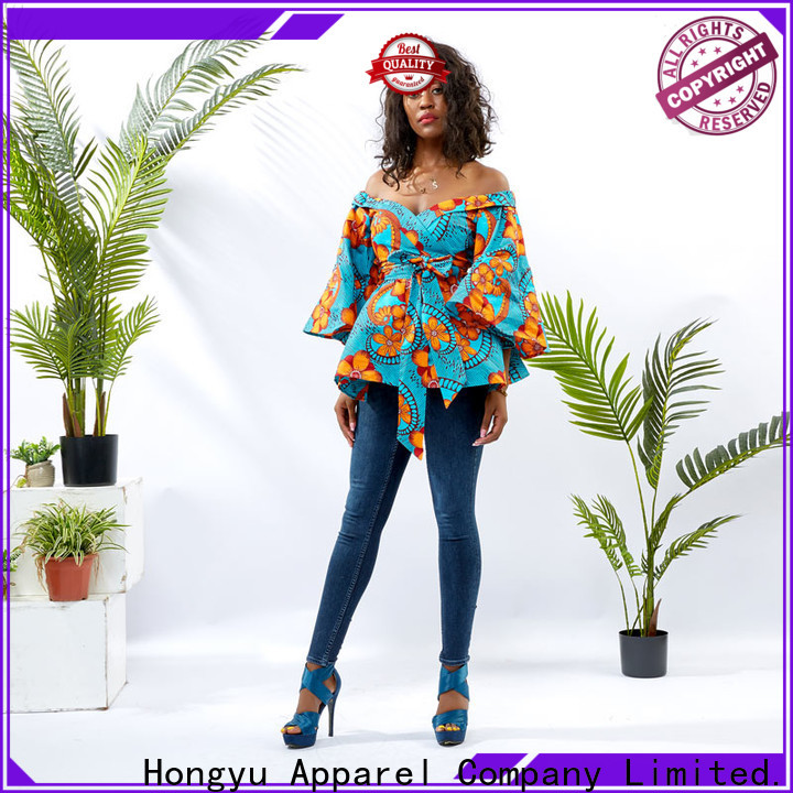 HongYu Apparel tunic latest shirts designs for womens women reception