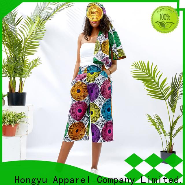 HongYu Apparel midi women's cotton dress pants design reception