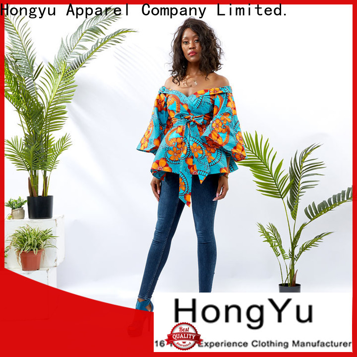 HongYu Apparel ladies top shoulder africa