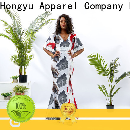 HongYu Apparel backless african dresses for ladies design mall