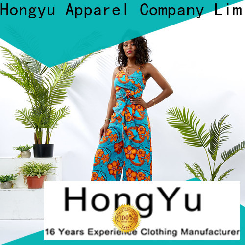 HongYu Apparel two piece pants set design travel