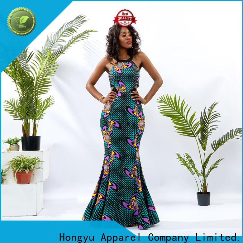 HongYu Apparel floral beautiful dresses for women wholesale reception