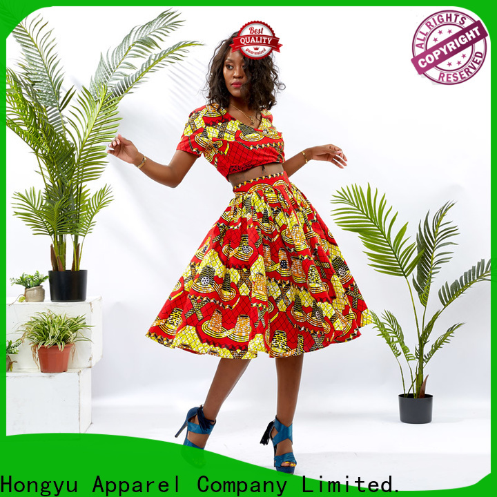 customized two piece skirt and top women women