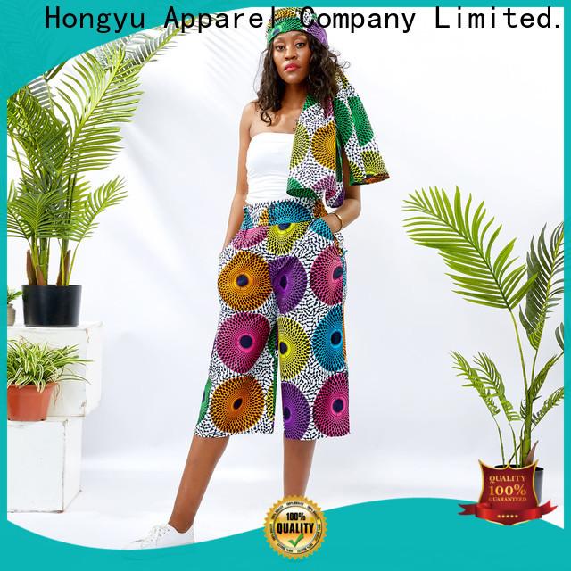 HongYu Apparel cotton pants design travel