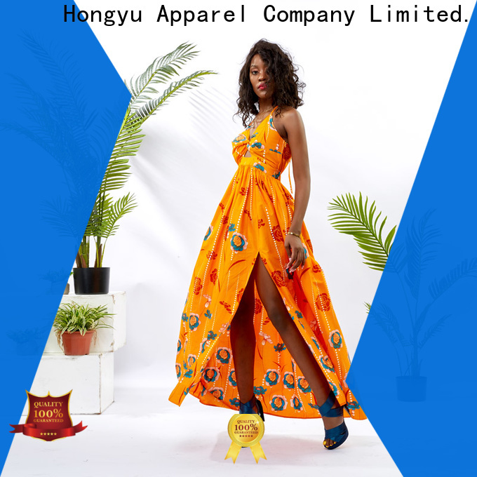HongYu Apparel print straight dress african wear wholesale africa