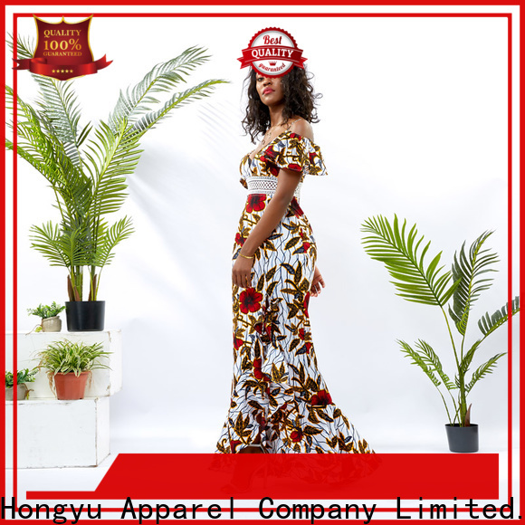 HongYu Apparel customized dress design africa