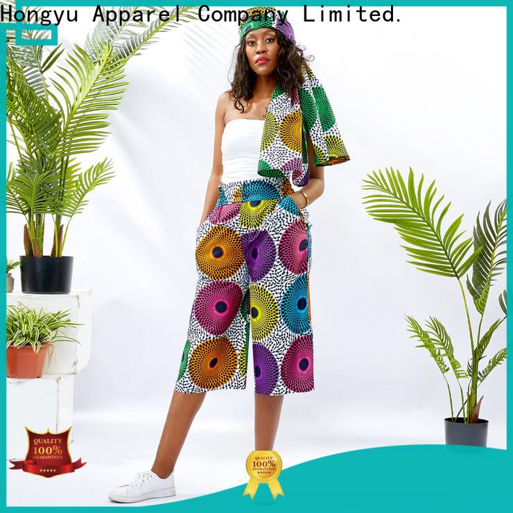 HongYu Apparel women's cotton dress pants wholesale mall