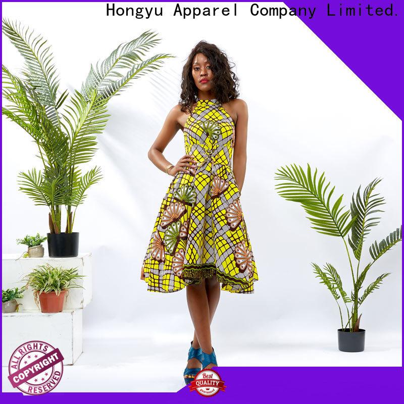 HongYu Apparel maxi simple african print dresses service mall