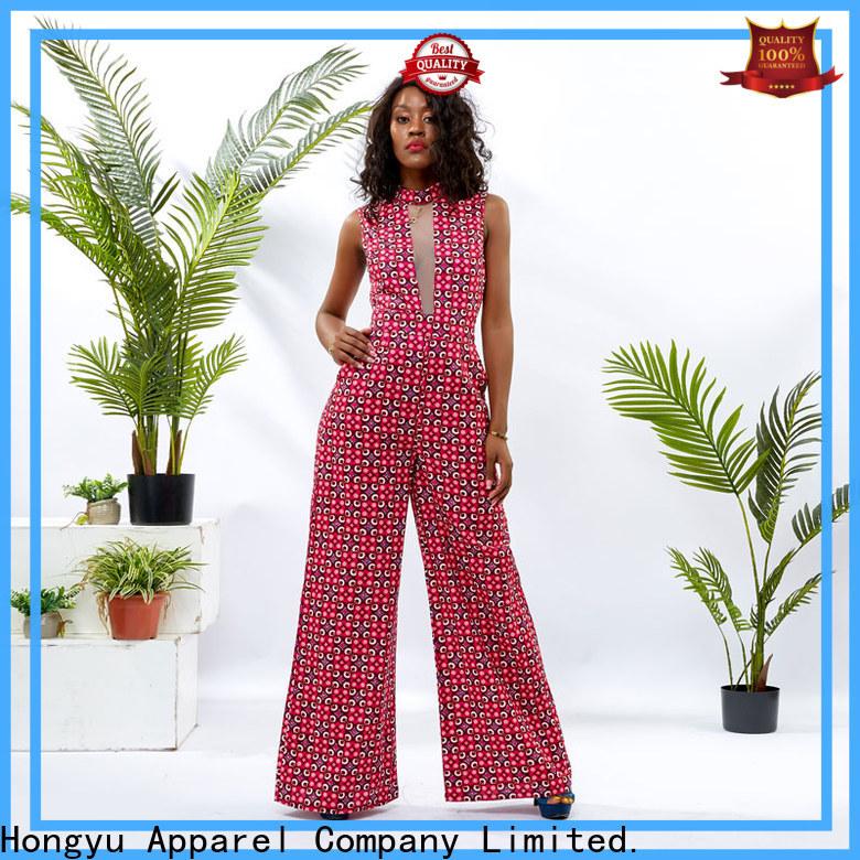 HongYu Apparel print short jumpsuit design women