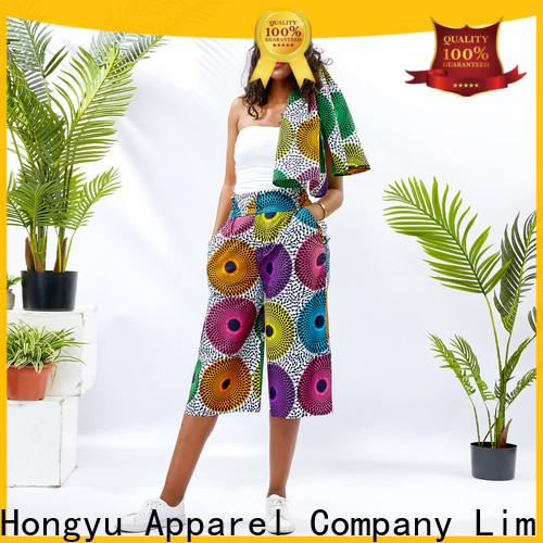 HongYu Apparel cotton black casual pants womens service reception